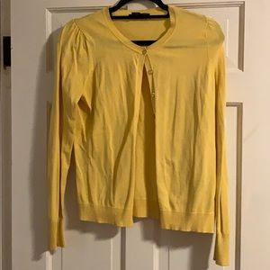 August Silk Cardigan Yellow